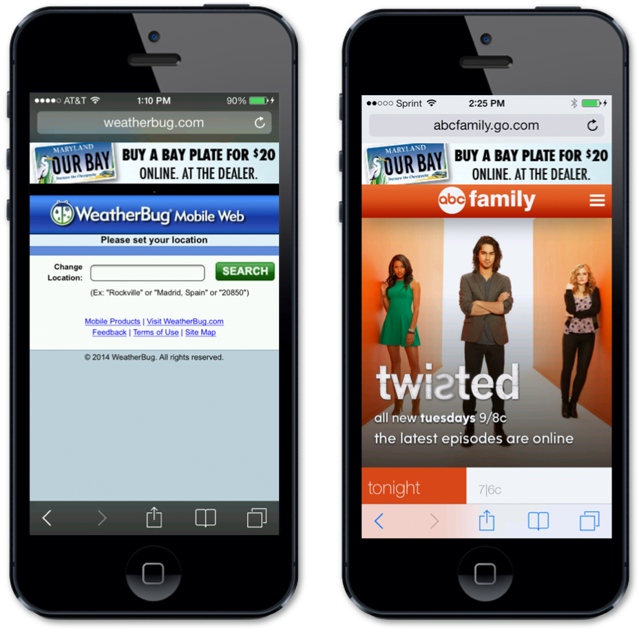 Chesapeake Bay Trust Mobile Advertising