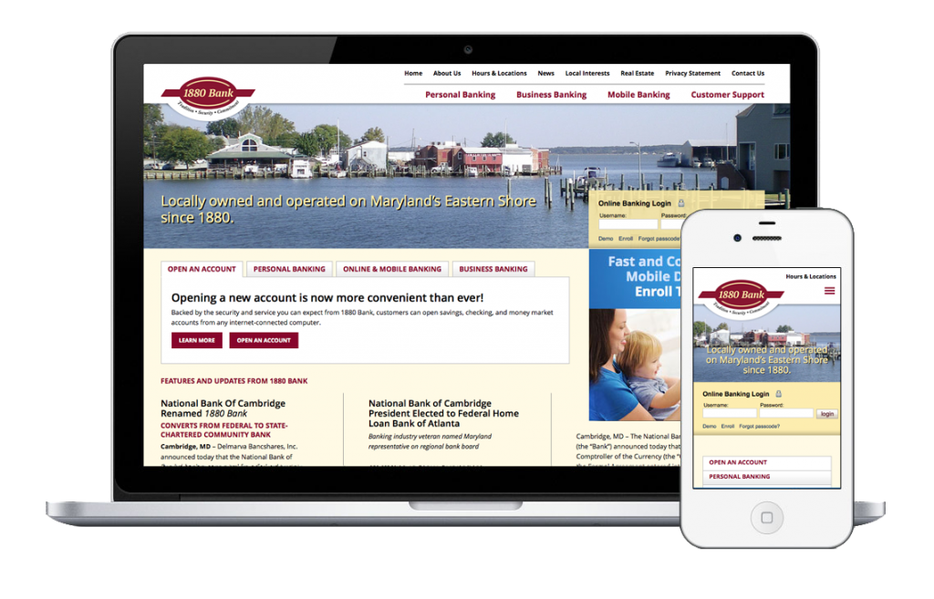 National Bank of Cambridge Responsive Web Design